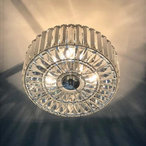 Laura Ashley Fenhurst Flush Polished Chrome and Crystal