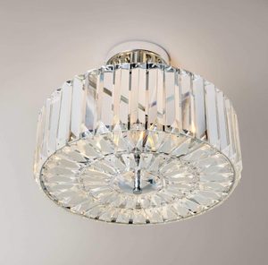 Laura Ashley Fenhurst 4 light Flush Polished Chrome and Crystal