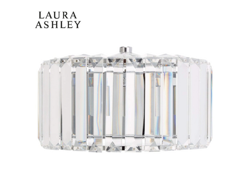 Laura Ashley Fenhurst Wall Light Polished Chrome and Glass