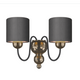 Garbo Bronze Wall Light Bespoke Shades GAR0900
