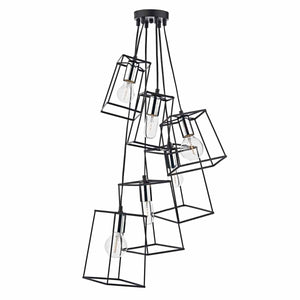 Tower 6 Lt Cluster Black and Chrome TOW0650