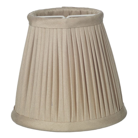Trinity Pleated Silk Shade Candle Clip Taupe