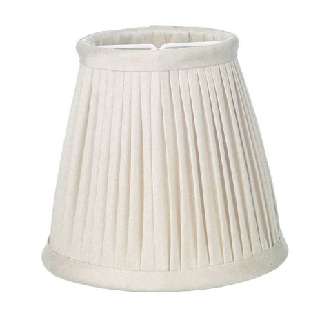 Trinity Pleated Silk Shade Candle Clip