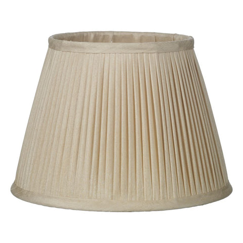 Trinity Pleated Silk Shade 25cm Taupe