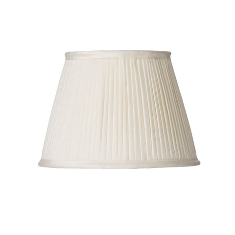 Trinity Pleated Silk Shade 25cm Ivory
