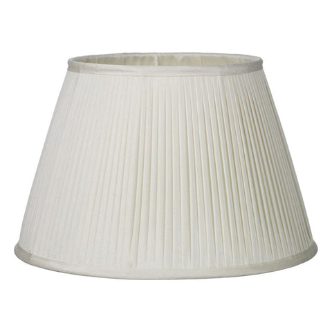 Trinity Pleated Silk Shade 35cm Ivory