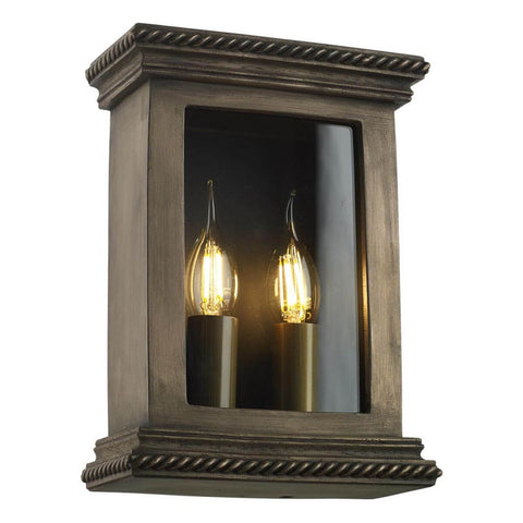 Truro Outdoor Wall Light David Hunt Lighting TRU2163 Matt Bronze