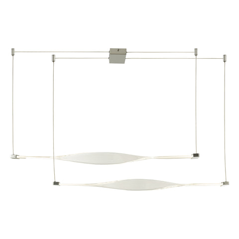 Twist 2lt Bar Pendant Silver and Acrylic TWI6232 där lighting
