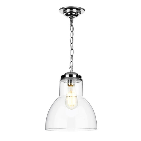 David Hunt Lighting Small Upton Pendant Satin Chrome UPT8650