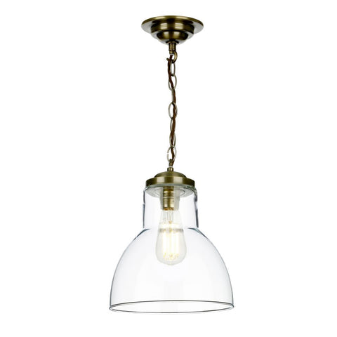 David Hunt Lighting Small Upton Pendant Antique Brass UPT8675