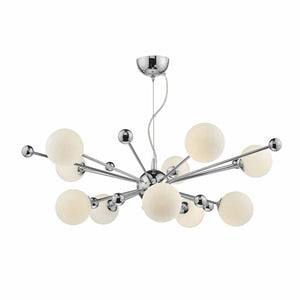 Ursa 10Lt Pendant URS2350 Chrome and Opal