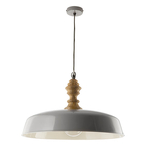 Vadna Grey Wood Pendant Light VAD0139