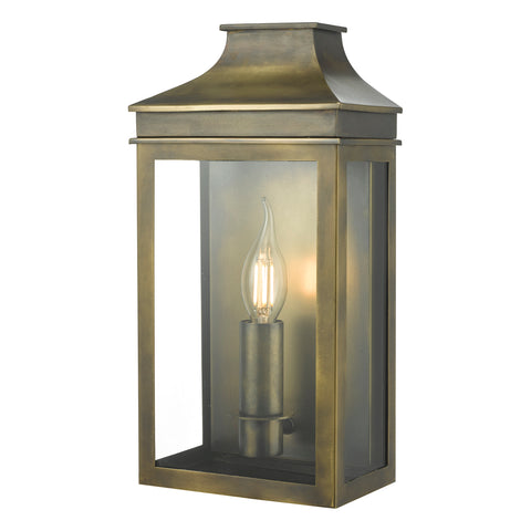 Vapour Coach Lantern Weathered Brass VAP5245 där lighting