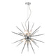 Vasiliy Starburst Pendant Polished Chrome and Glass där lighting VAS1250