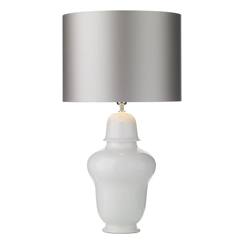 Vaughan White Gloss Ceramic Lamp Base Only VAU4102