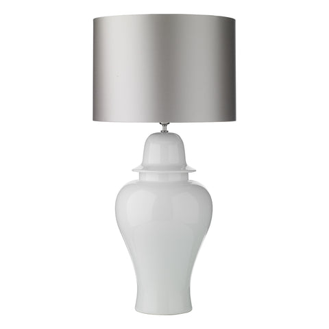 Large Vaughan White Gloss Ceramic Lamp Base Only VAU4302