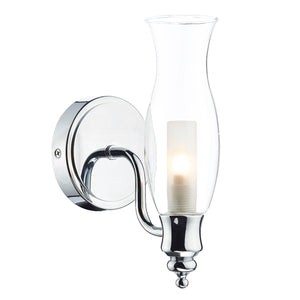 Vestry Wall Light IP44 VES0750 Polished Chrome där lighting