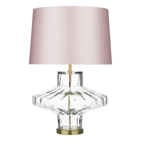 Vienna Clear Glass Table Lamp VIE4308 David Hunt Lighting