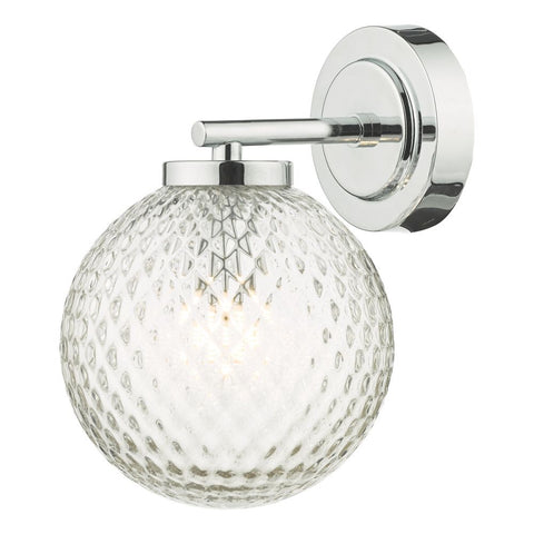 Wayne Bathroom Wall Light Polished Chrome WAY0750 där Lighting