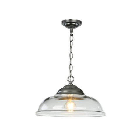 Webster Pendant Clear Glass Chrome David Hunt Lighting WEB0112C