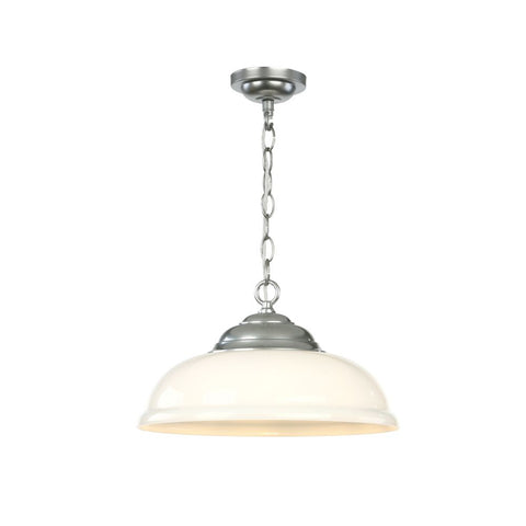 Webster Pendant White Glass Chrome David Hunt Lighting WEB0146C