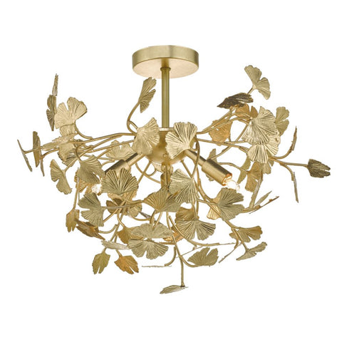 Yadira 4Lt Gold Leaf där lighting YAD0435