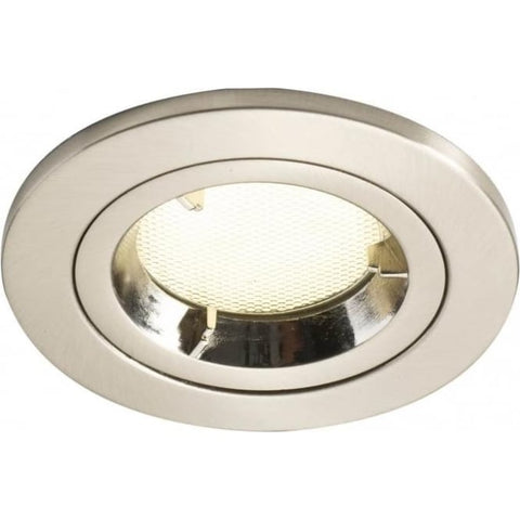 där lighting Ace Spotlight Recessed Satin Chrome Low Energy ACE2045/11GU