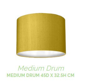 Medium Drum Shade 13cm Linen and Silk
