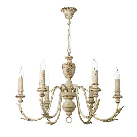 Emile 6 Light Chandelier Rustic French EMI0655