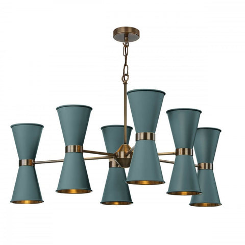 David Hunt Lighting Hyde 12 Light Chandelier HYD1200 Antique Brass