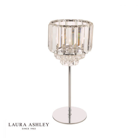 Laura Ashley Vienna Table Lamp Polished Chrome and Crystal