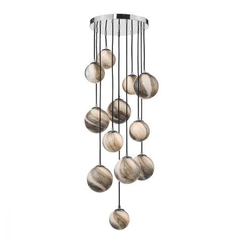 Mikara 12 lt Cluster 1.5m with Marble Effect Glass där lighting MIK6350