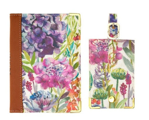 Voyage Maison Passport Cover and Luggage Tag Hydrangea