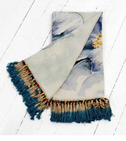 Voyage Maison  Throw T150005 Peony Blue Throw
