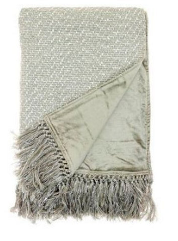 Voyage Maison  Throw T160005 Neshira Platinum Silk Throw