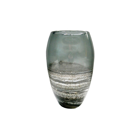 Orion Medium Vase in Ink Voyage Decoration VG19017