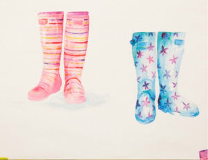 Welly Boots Wallpaper Voyage Decoration