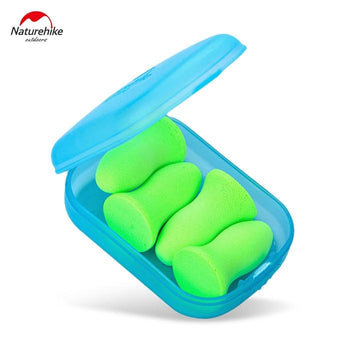 NatureHike 2 Pairs of Travel Reusable Anti-noisy Memory Foam Sleeping Earplugs