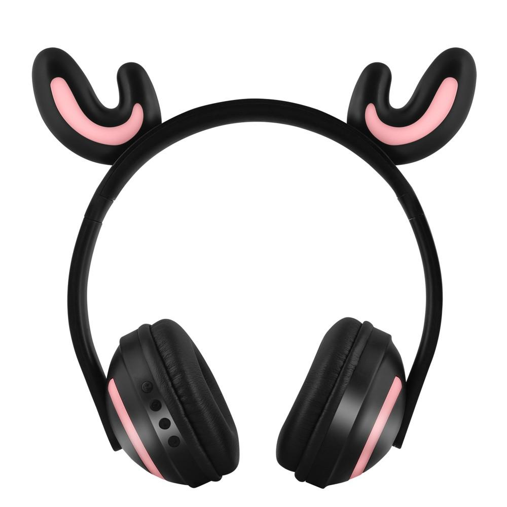 ZW-19 Wireless Bluetooth Headset Glowing Cat Ear Earphone with Mic