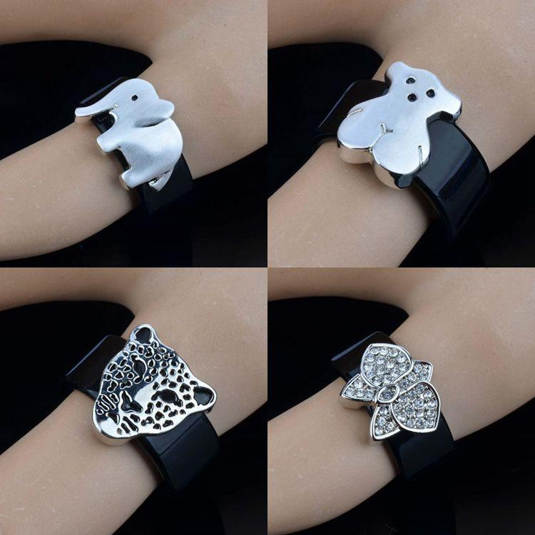 European and American retro black circle series jewelry fashion popular diamond animal ring creative personality couple ring