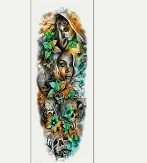 Waterproof full arm tattoo sticker