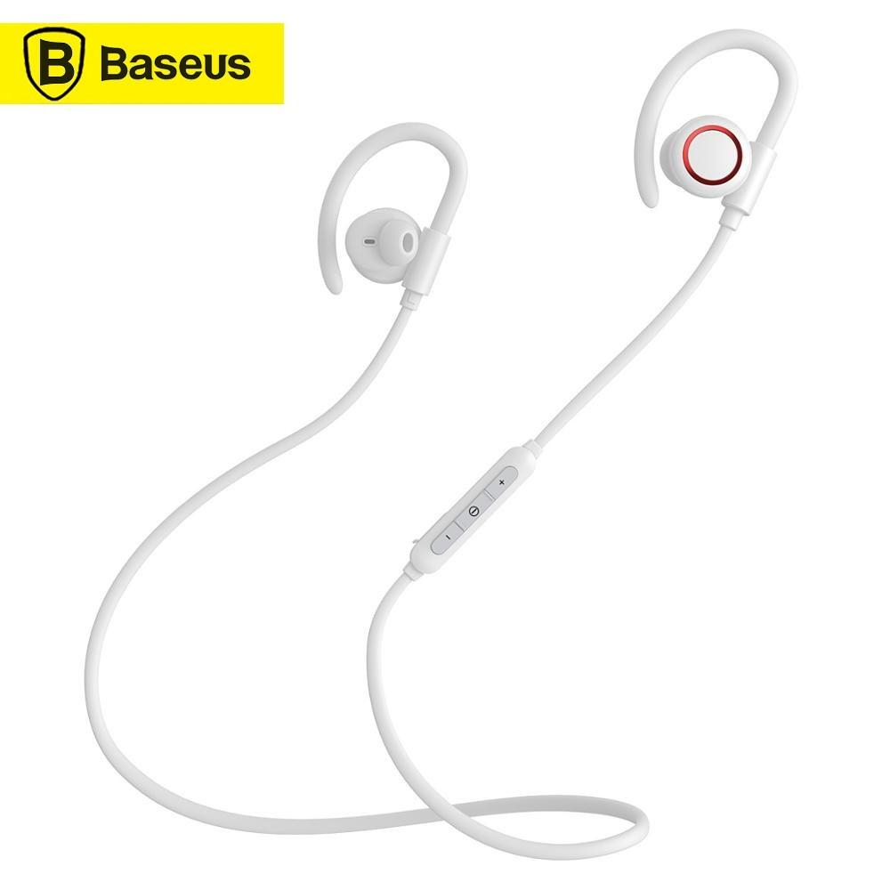Baseus S17 Stereo BT Earphone Anti-shedding Ear Hook IPX5 Waterproof Sport Wireless Earphone With Magnetic Adsorption