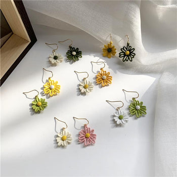 Korean temperament simple female forest earrings