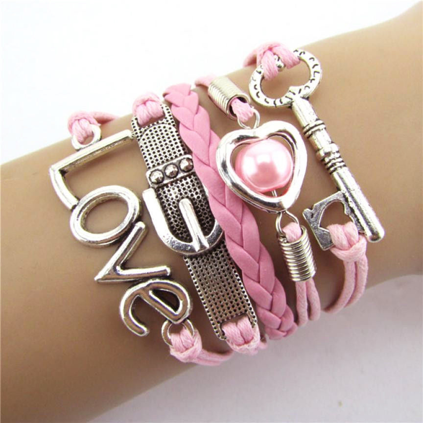Leather Love Bracelet