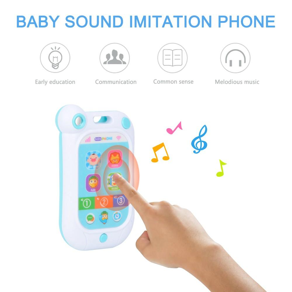 Baby Sound Imitation Phone with Lights Music Funny sounds Baby Stop Crying Gift Toy for Babies