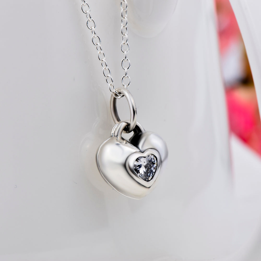 Secret Love Heart  Necklace