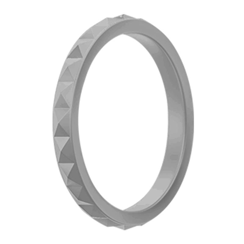 Diamond pattern silicone ring