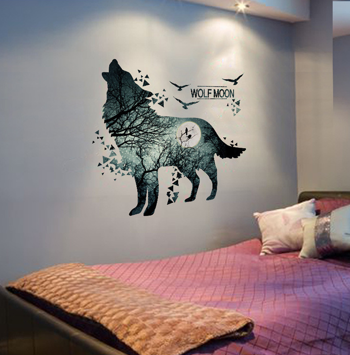 Howling Wolf Wall Stickers