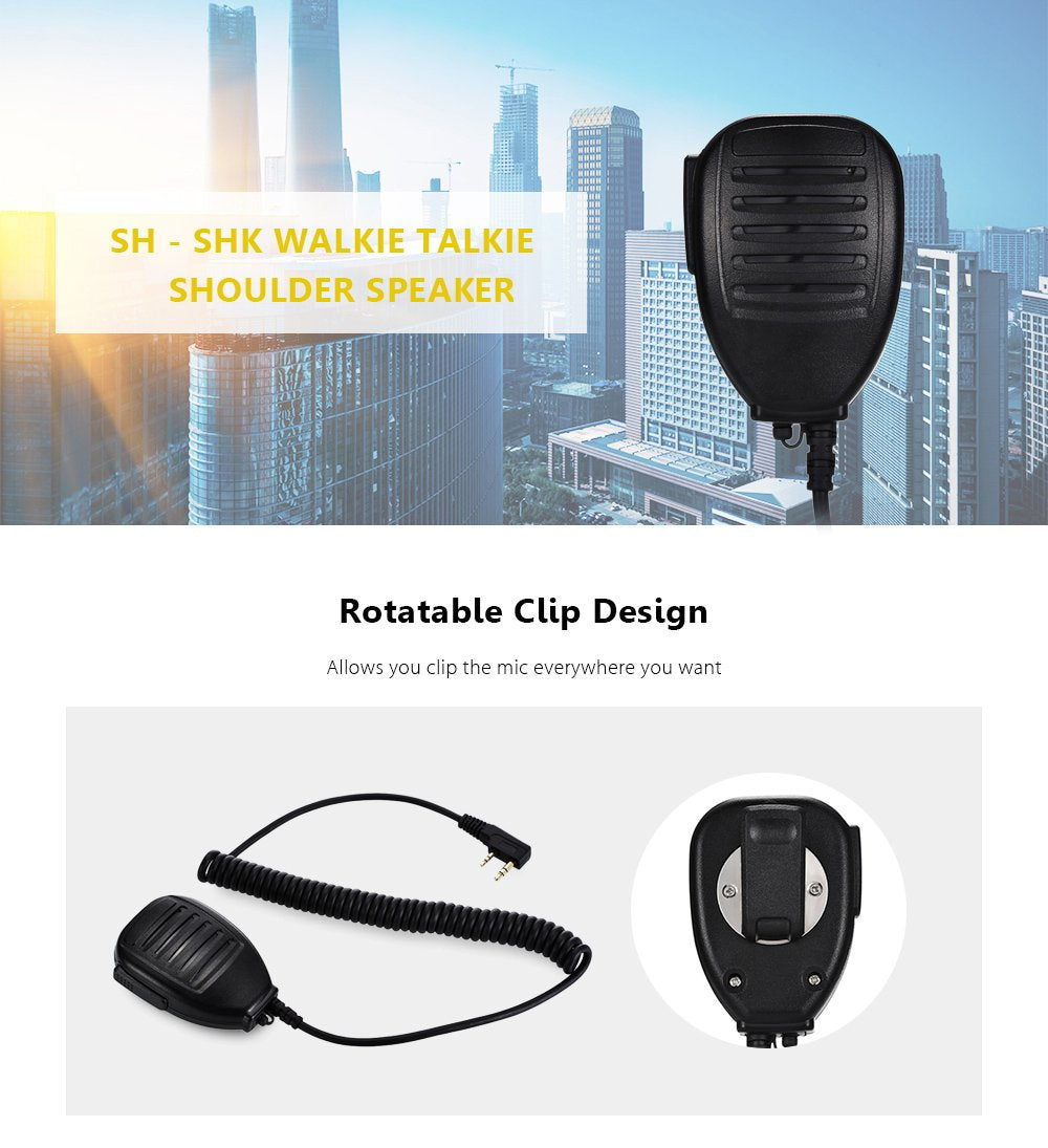 SH - SHK Walkie Talkie Handheld Shoulder Speaking Mic