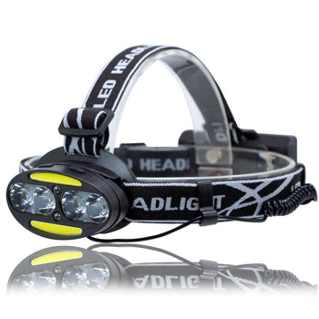 UltraFire UF-2504A T6+COB+LED 8 Light 3000LM 7 Speed Strong Head Light
